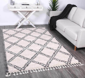 Kasbah Leta Diamond Cream Grey Rug