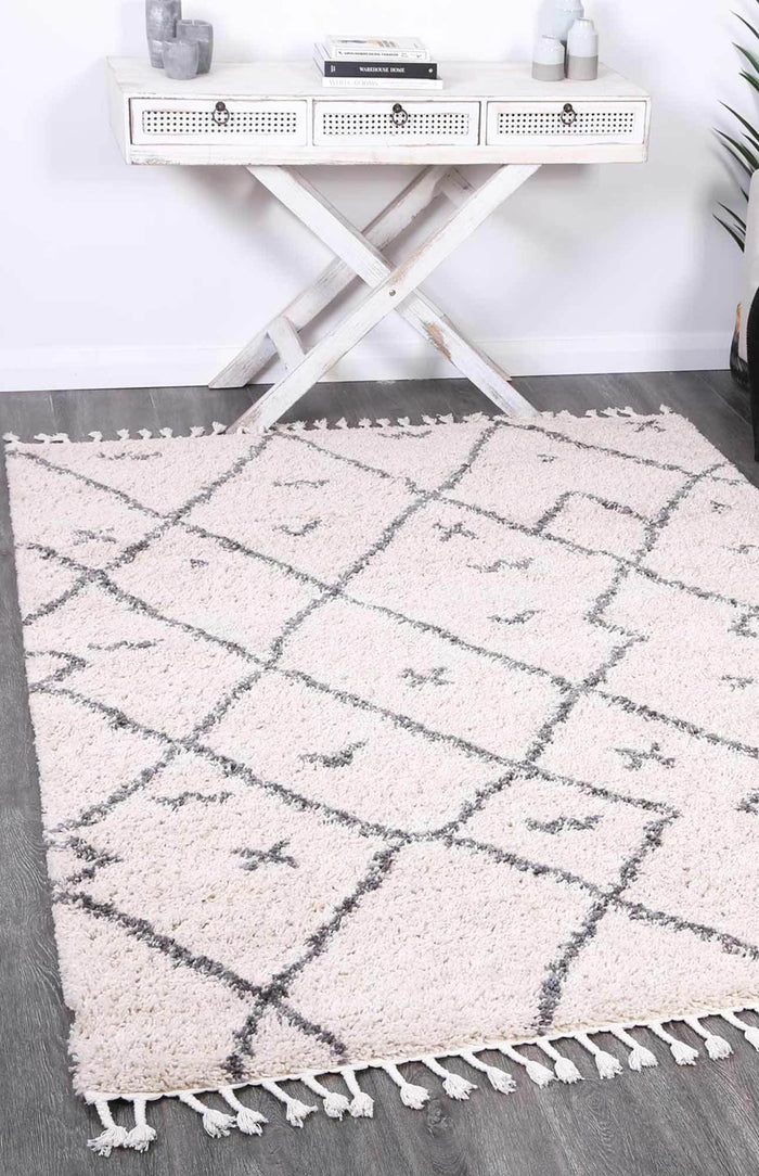 Kasbah Mizzie Tribal Cream Grey Rug