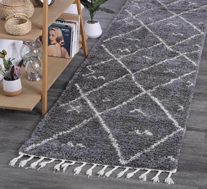 Kasbah Mizzie Tribal Grey Cream Rug