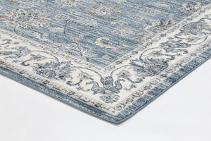 Atlanta Vintage Blue Boarder Rug