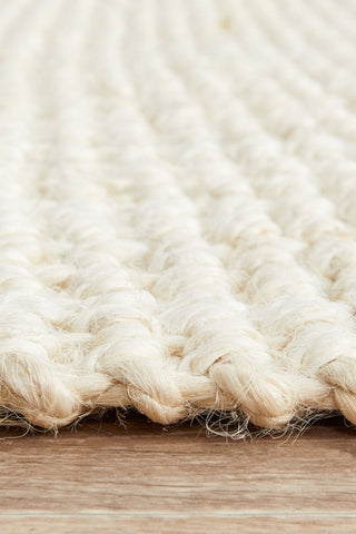 Chunky Natural Fiber Barker Bleach Runner Rug - Floorsome