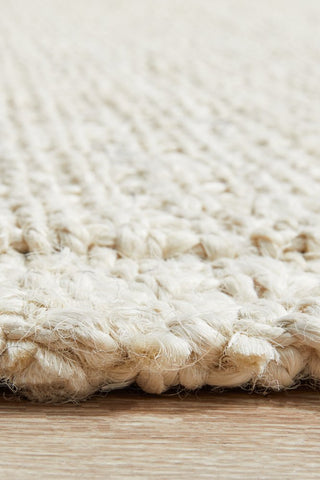 Chunky Natural Fiber Barker Bleach Rug - Floorsome
