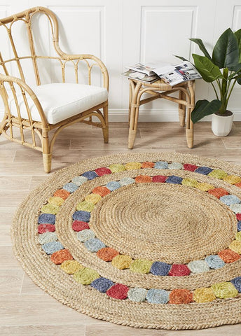 Little Miss Daisy Jute Rug