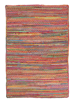 Expo Jute and Cotton Rug Multi - Floorsome