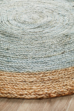 Round Jute Natural Rug Cherry - Floorsome