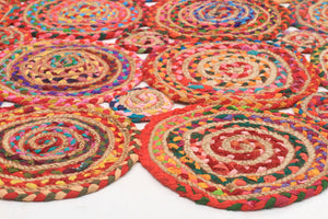 Amilia Cotton and Jute Rug Multi - Floorsome
