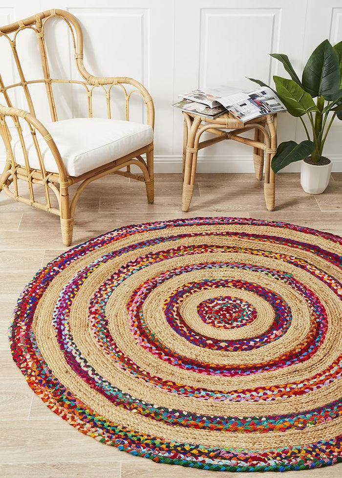 April Target Cotton and Jute Rug Round
