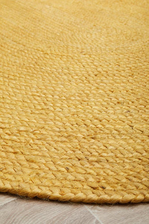 Bondi Yellow Oval Rug