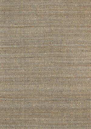 Oslo Black Jute Diamonds Flat Weave Rug