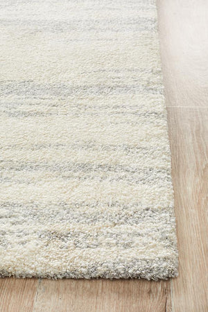 Broadway Evelyn Contemporary Silver Rug - Floorsome