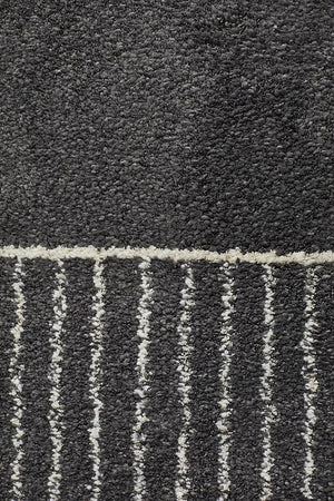 Broadway Florence Modern Charcoal Rug - Floorsome