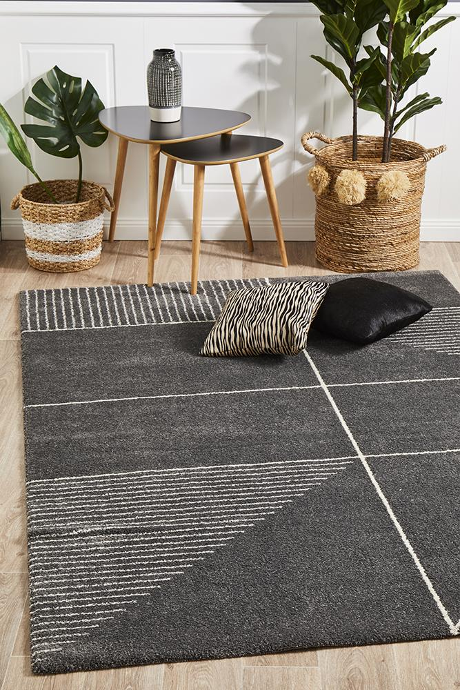 Broadway Florence Modern Charcoal Rug