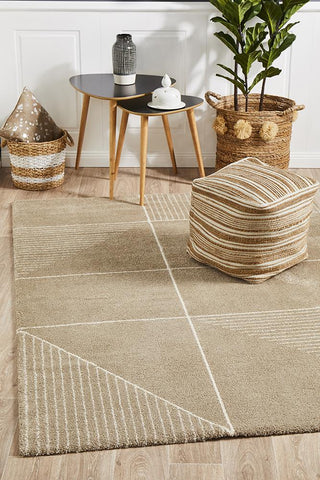 Broadway Florence Modern Natural Rug - Floorsome