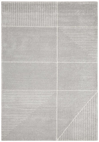 Broadway Florence Modern Silver Rug - Floorsome