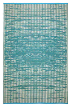 Outdoor Rug Recycled Plastic  - Brooklyn Teal