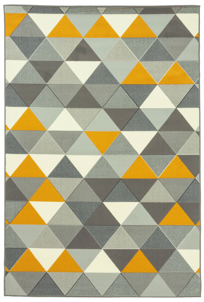 Brussels Triangle Grey Mustard Rug