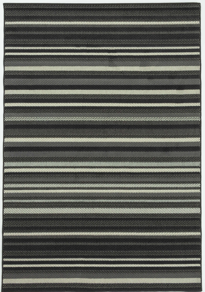 Brussels Zag Black Rug