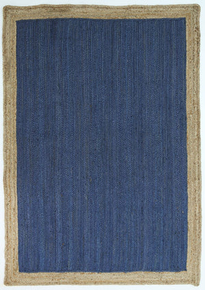 Hampton Navy Blue Centre Jute Rug
