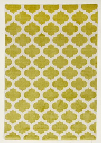 Trellis Stylish Design Rug Green - Floorsome