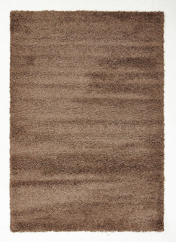 Soft Dense Plain Dark Beige Shag Rug - Floorsome