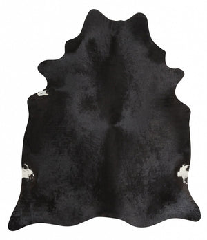 Exquisite Natural Cow Hide Black - Floorsome