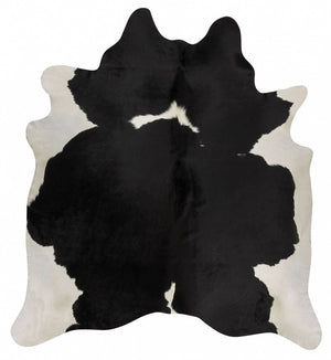 Exquisite Natural Cow Hide Black White - Floorsome