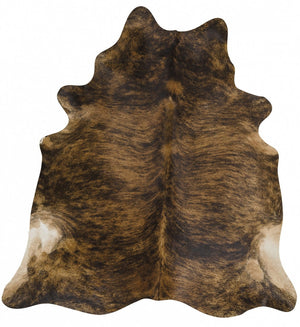Exquisite Natural Cow Hide Brindle - Floorsome