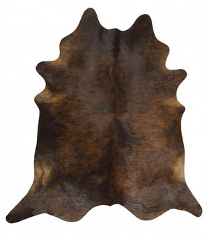 Exquisite Natural Cow Hide Dark Brindle - Floorsome