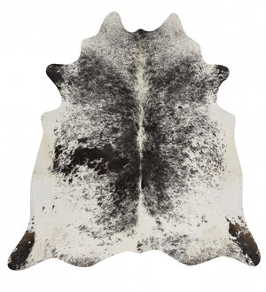 Exquisite Natural Cow Hide Salt & Pepper Black - Floorsome