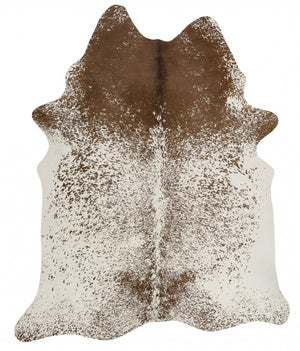 Exquisite Natural Cow Hide Salt & Pepper Brown - Floorsome
