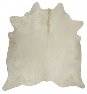 Exquisite Natural Cow Hide White - Floorsome