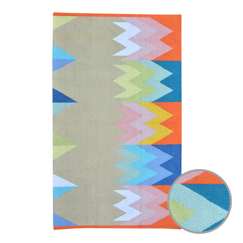 MOUNTAIN RAINBOW Recycled Floor Rug 1.2x1.8m