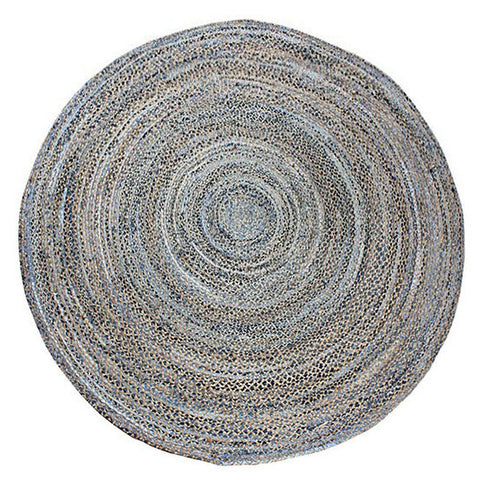 CHINDI DENIM Indian Design Recycled Floor Rug 1.8m - Floorsome