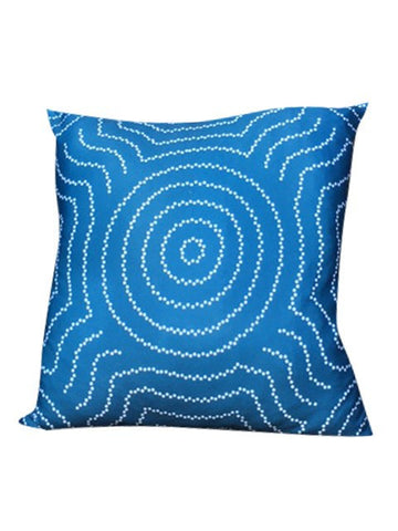 Water Dreaming Cushion Cover, Blue & White 50 x 50cm - Floorsome