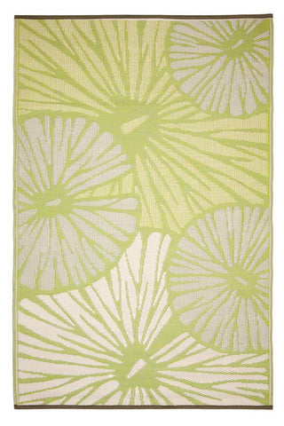 Outdoor Rug Recycled Plastic  - Citrus Lily Green