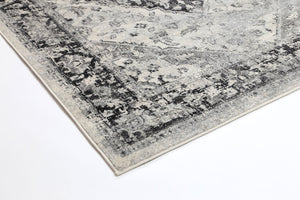 Delicate Grey Traditional Rug