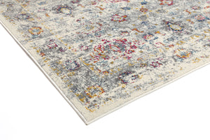 Delicate Multi Grey Traditional Rug