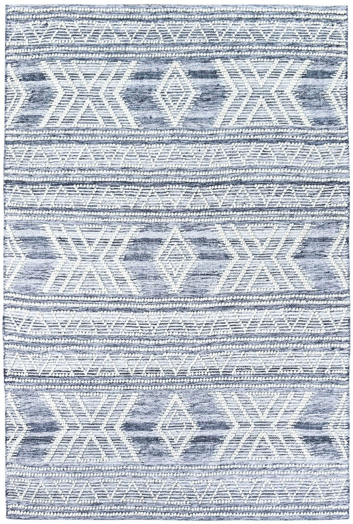 Bihar Silver Handmade Wool and Viscose Rug