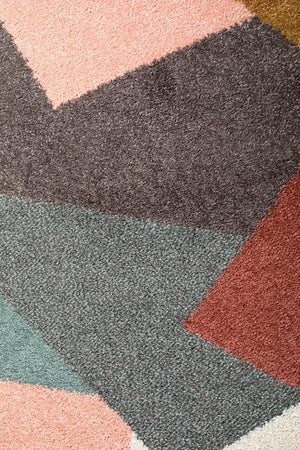 Dimensions 420 Blush Modern Runner Rug - Floorsome