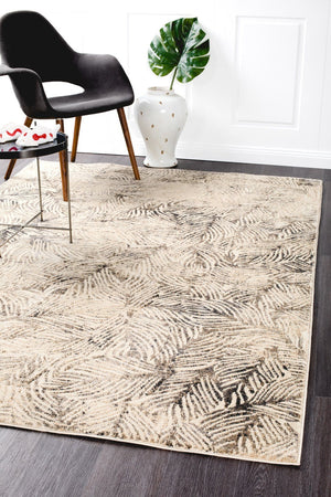 Artistic Nature Modern Charcoal Rug - Floorsome