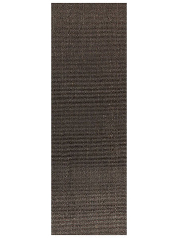 Natural Sisal Runner Rug Boucle Charcoal