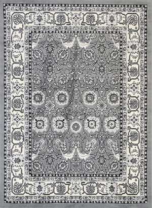 Dash Grey Traditional Boarder Rug