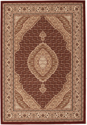 Stunning Formal Oriental Design Rug Red - Floorsome