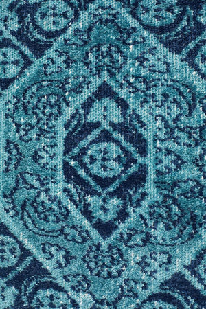 Eternal 912 Blue Runner Rug