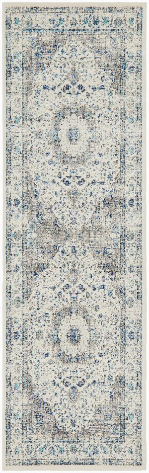 Mist White Transitional Runner Rug
