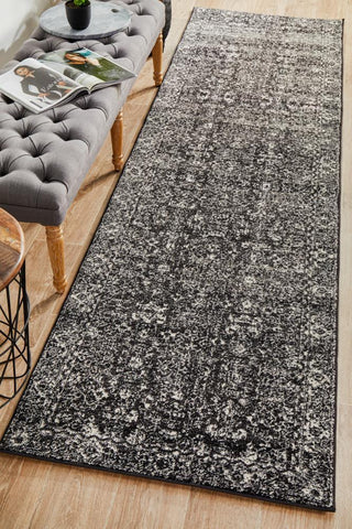 Estella Charcoal Transitional Runner Rug