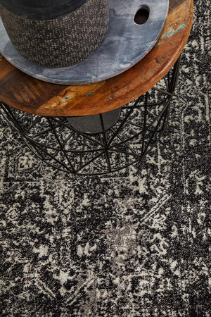 Scape Charcoal Transitional Runner Rug