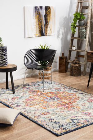 Carnival White Transitional Rug - Floorsome