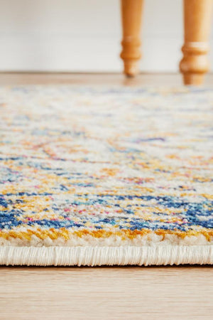 Peacock Ivory Transitional Runner Rug