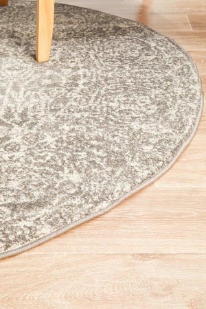 Homage Grey Transitional Round Rug